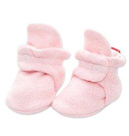 Zutano Cozie Fleece Bootie - Baby Pink 3M