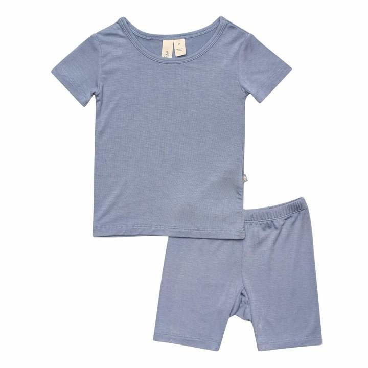 Kyte Baby Short Sleeve Toddler Pajama Set Slate