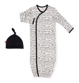 Magnetic Me Going Places Organic cotton Magnetic Sack Gown Set NB-3M
