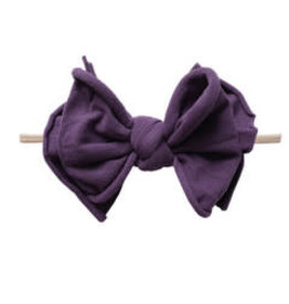 Baby Bling Bows FAB-BOW-LOUS Skinny:  Plum