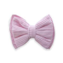 Baby Bling Bows Ribbed Bow Clip : Pink