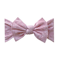 Baby Bling Bows Printed Knot - Mauve Branch