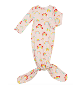Angel Dear Knotted Gown Pink Rainbows 0-3M
