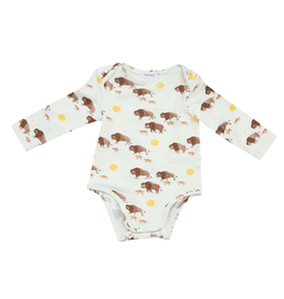Angel Dear Bison Buffalo Gold Lap Shoulder Onesie