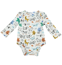 Angel Dear Lap Shoulder Bodysuit, Cool Pups