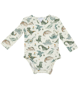 Angel Dear Lap Shoulder Bodysuit, Crayon Dinosaur