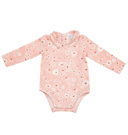 Angel Dear Peter Pan Collar Bodysuit With Picot, Daisy Chain