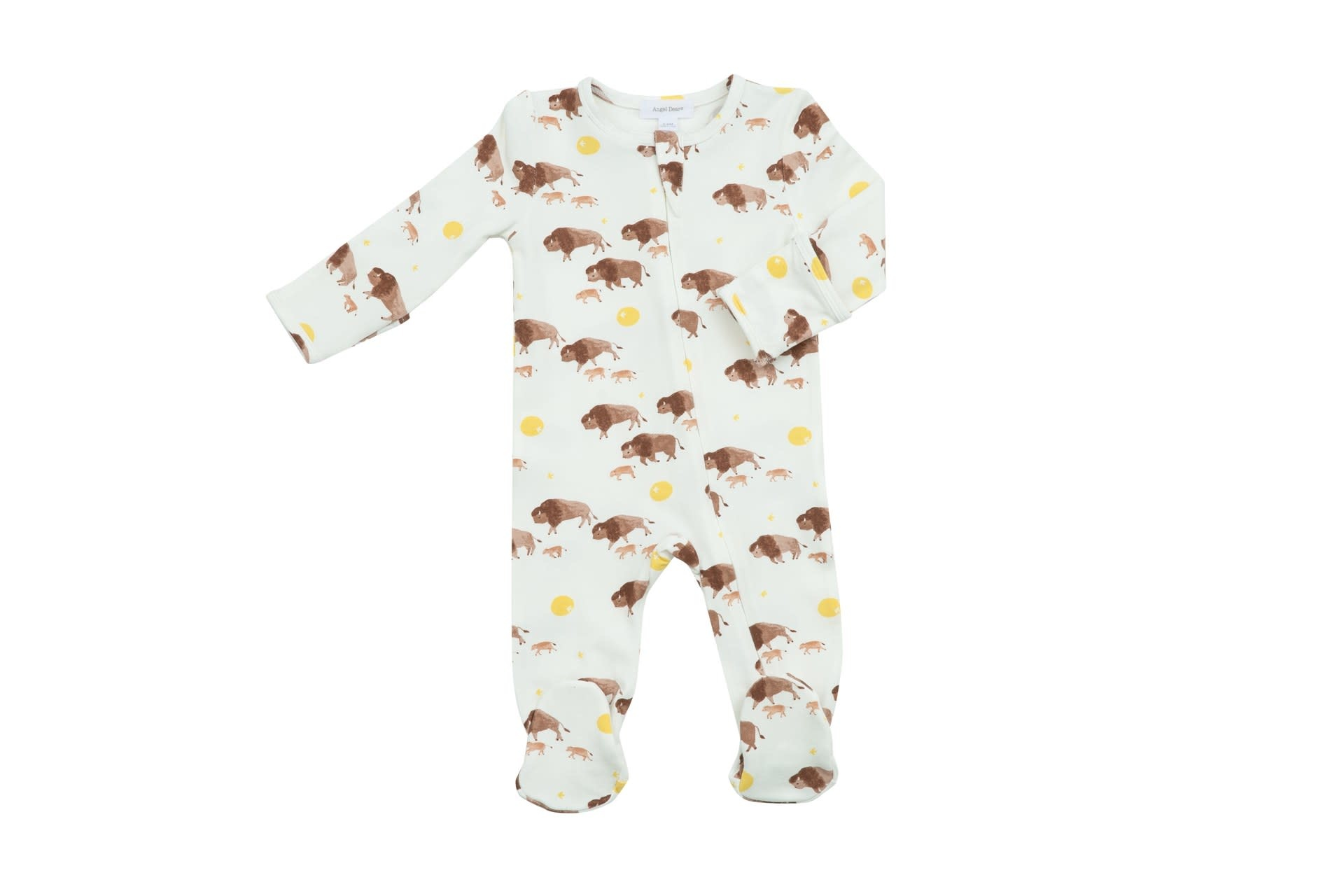 Angel Dear Bison Buffalo Gold, Zipper Footie
