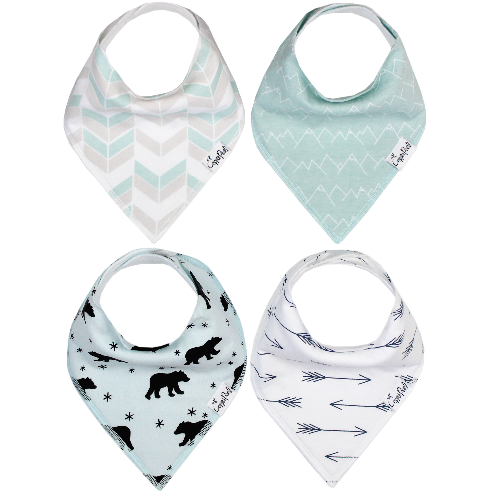 Copper Pearl Bibs - Archer Set - 4 pack