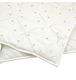 Just Born Sparkle Ivory With Gold Burst Metallic Jersey Knit Coverlet