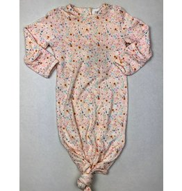 Angel Dear Knotted Gown, Floral Dinos 0-3M