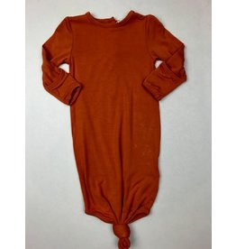 Angel Dear Knotted Gown, Rust 0-3M