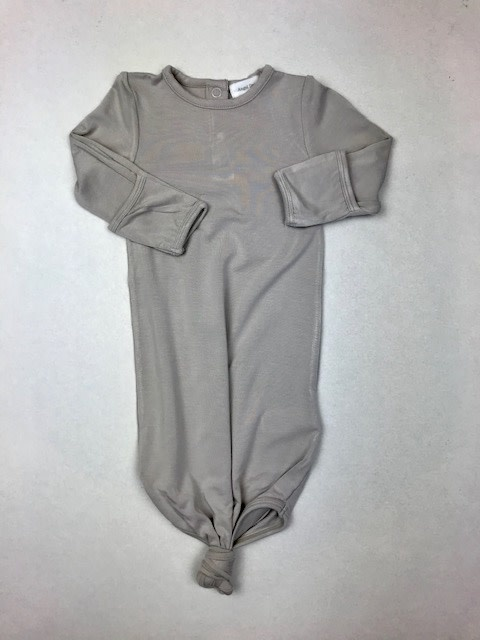 Angel Dear Knotted Gown - Grey 0-3M