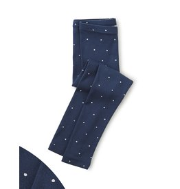 Tea Collection Dot Leggings - Blue Whale