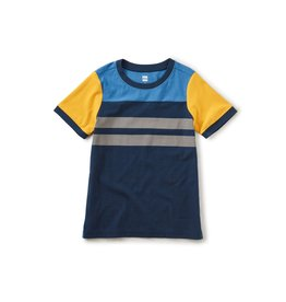 Tea Collection Sporty Colorblock Tee - Whale Blue