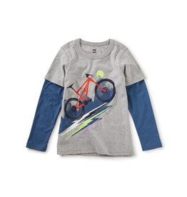 Tea Collection Heavy Pedal Layered Graphic Tee - Grey