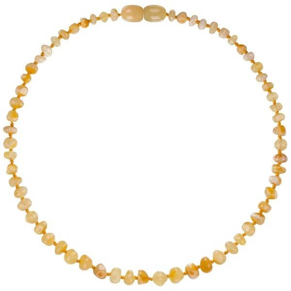 Powell's Owls 12.5'' Baroque Milk Amber Necklace