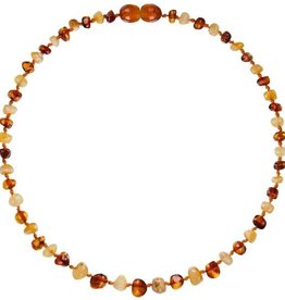 Powell's Owls 12.5'' Baroque Milk/Cognac Amber Necklace