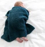 Saranoni Mini Blanket (15'' x 20'') Nautical Blue Bamboni