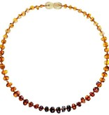 Powell's Owls 12.5'' Baroque Rainbow Amber Necklace