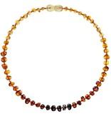 Powell's Owls 12.5'' Baroque Rainbow Necklace