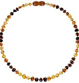 Powell's Owls 12.5'' Baroque Rainbow Wave Amber Necklace