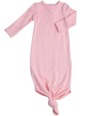 Angel Dear Knotted Gown, Pink Solid 0-3M