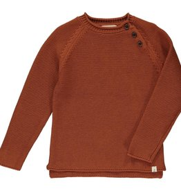 Me + Henry Rust Cotton Sweater