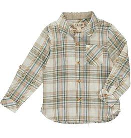 Me + Henry Rust/Green Plaid Shirt