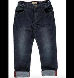Me + Henry Navy Slim Fit Denim Jeans, Baby