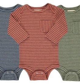 Me + Henry Triple Pack Multi Stripe Onesies