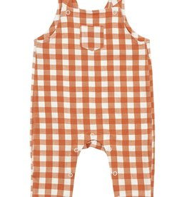 Angel Dear Pocket Overalls, Gingham Pumpkin
