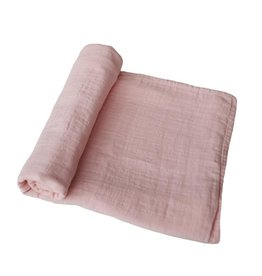 Mushie & Co Muslin Swaddle, Rose Vanilla