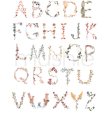 Mushie & Co Alphabet Floral Poster