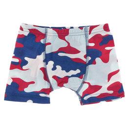 Kickee Pants Print Single Boxer Brief Flag Red Military