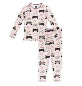 Kickee Pants Print Long Sleeve Pajama Set Macaroon Law Enforcement