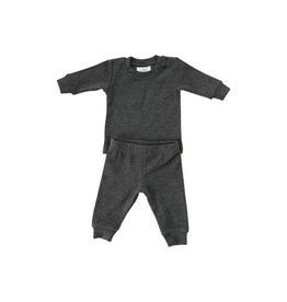 Mebie Baby Ribbed Two-Piece Cozy Set - Charcoal Heather