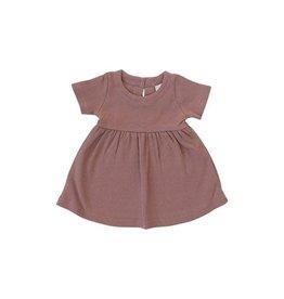 Mebie Baby Ribbed Dress - Dusty Rose