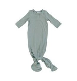 Mebie Baby Knot Gown 0-3M - Sage