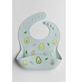 Lou Lou Lollipop Silicone Bib - Avocado