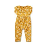 Tea Collection Envelope Back Romper - Golden Wildflowers