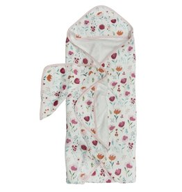 Lou Lou Lollipop Hooded Towel Set - Rosey Bloom