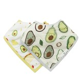 Lou Lou Lollipop Bandana Bib Set - Avocado