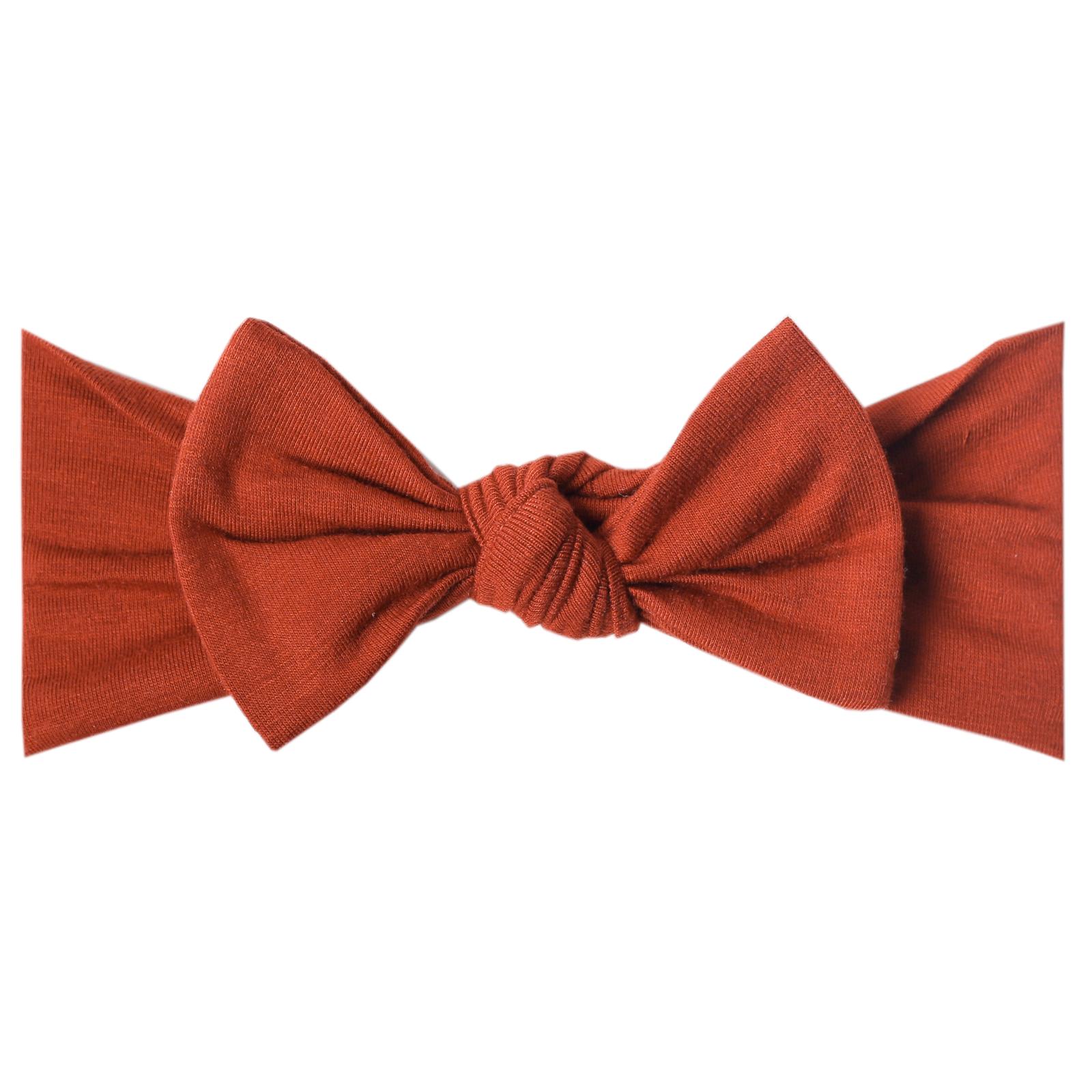 Copper Pearl Knit Headband - Rust