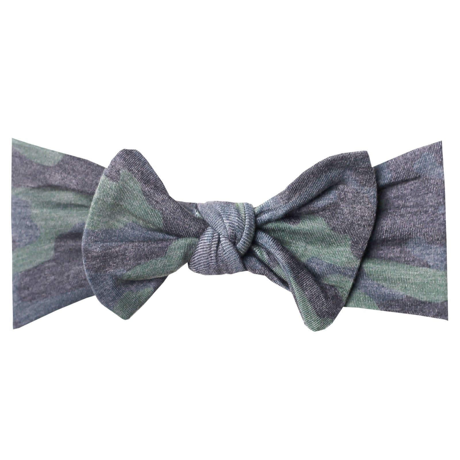 Copper Pearl Knit Headband - Hunter