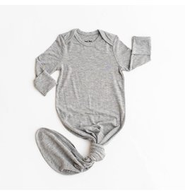 Little Sleepies Knotted Gown Heather Gray