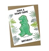 Feeling Smitten Have a Rawr-some Birthday! Bath Fizzy Card