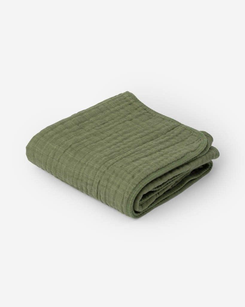 Little Unicorn Cotton Muslin Baby Quilt - Fern Green