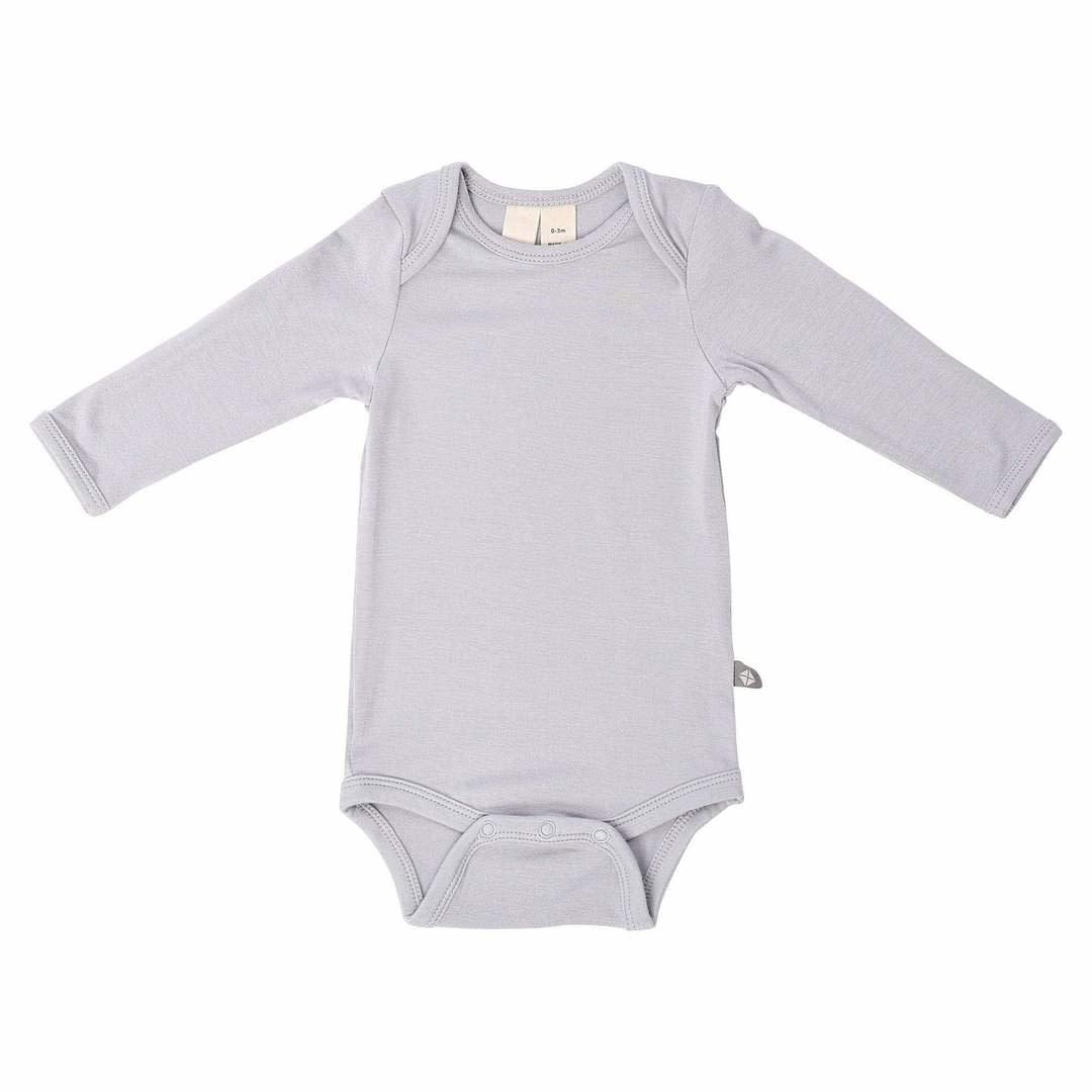 Kyte Baby Long Sleeve Bodysuit in Storm