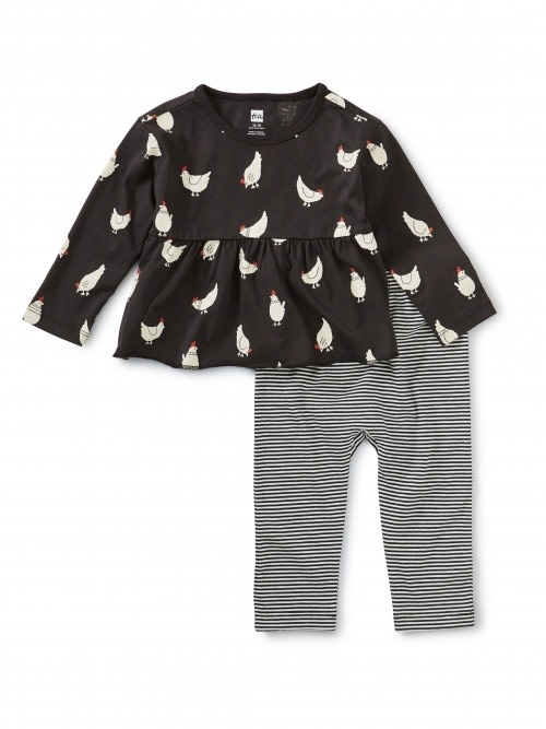 Tea Collection Cluck Cluck Baby Set - Cheery Chickens